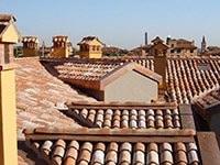 tetto in tegole e coppi